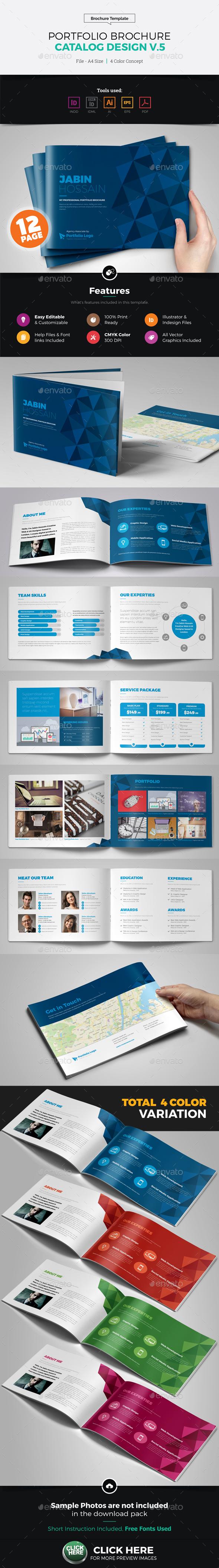 Portfolio Brochure Catalog Design v5 - Corporate Brochures