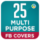 Multipurpose Facebook Cover Templates - 25 Designs - GraphicRiver Item for Sale