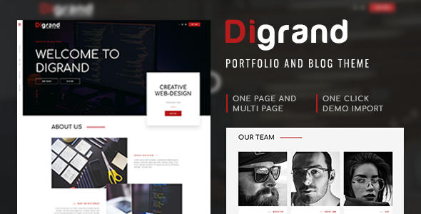 Digrand – Portfolio And Blog Theme