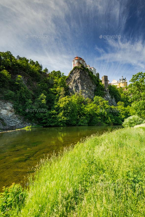 Vranov nad Dyjí Chateau Castle in South Moravia, Czech Republic - Stock Photo - Images