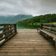 Wooden pier leading into Bohinj Lake, Slovenia - PhotoDune Item for Sale