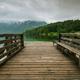 Wooden pier leading into Bohinj Lake, Slovenia - PhotoDune Item for Sale