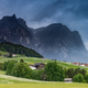 Panoramic dramatic image of scenery in the Dolomites. Summer in - PhotoDune Item for Sale