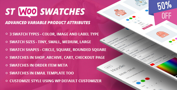 STWooSwatches - Advanced Variable Product Attributes ( Swatches ) for WooCommerce            Nulled