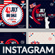 4th of July Instagram Banner