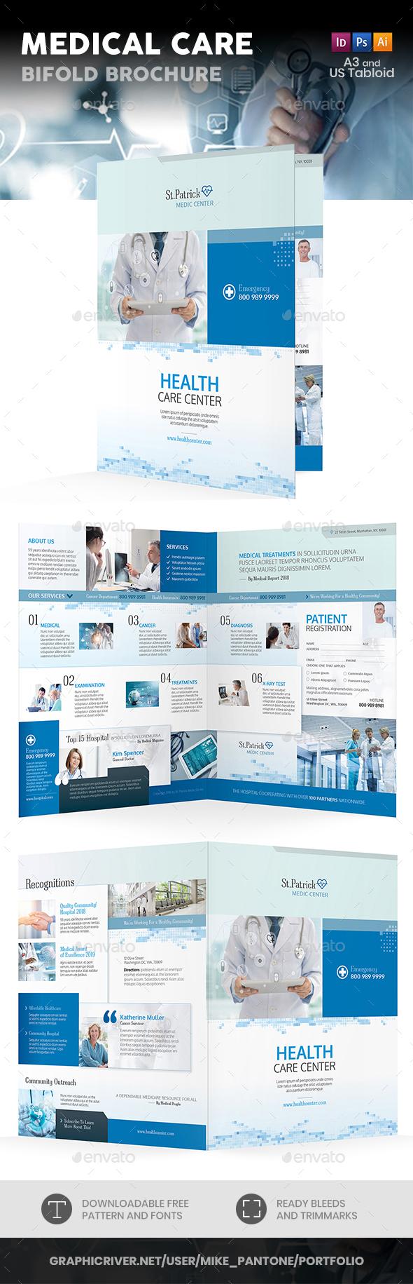 Medical Care Bifold / Halffold Brochure - Informational Brochures