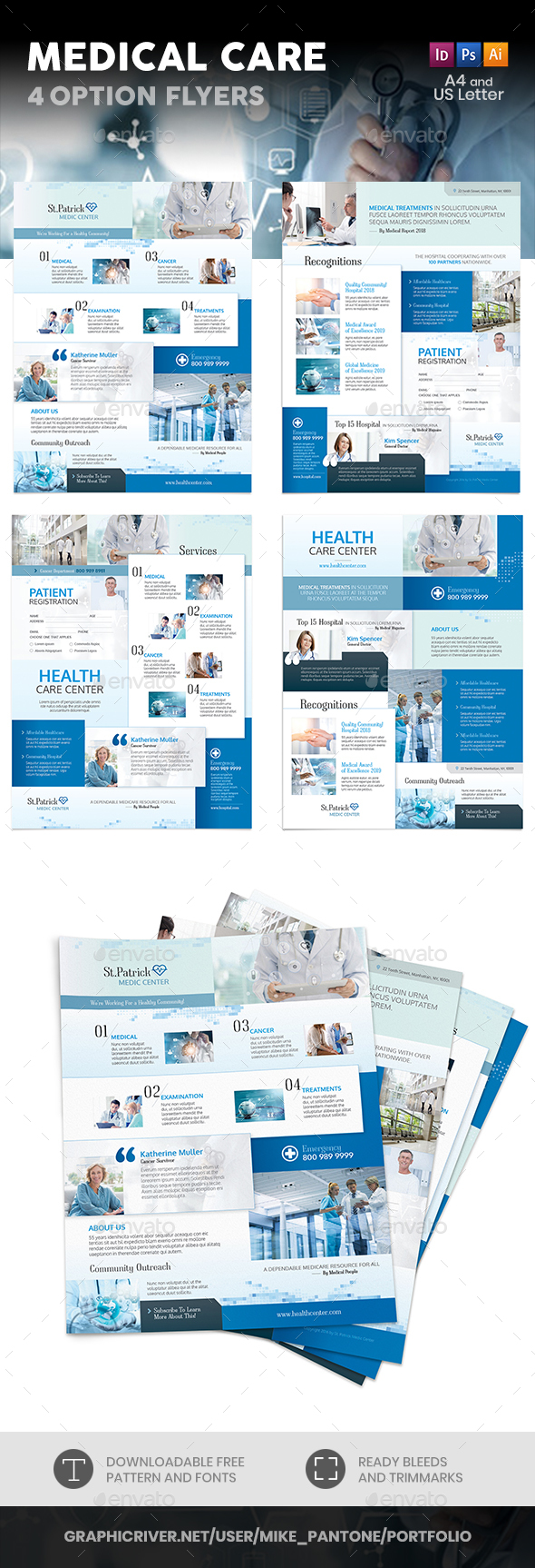 Medical Care Flyers – 4 Options - Corporate Flyers
