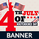 4th of July Web Banner - GraphicRiver Item for Sale
