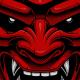 Japanese demon mask - GraphicRiver Item for Sale