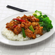 general tso's chicken with rice, american chinese cuisine - PhotoDune Item for Sale