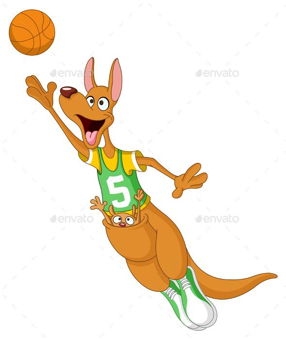 Basketball Kangaroo - Animals Characters