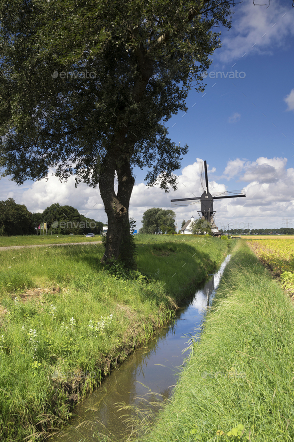 Windmill the Oostmolen - Stock Photo - Images