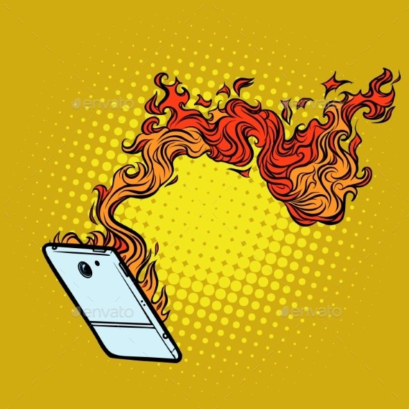 Smartphone Flames - Computers Technology