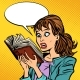 Shocked Girl Reading a Book - GraphicRiver Item for Sale