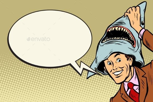 Joyful Man Carnival Shark Costume - People Characters