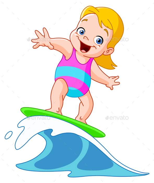 Surfing Girl - People Characters