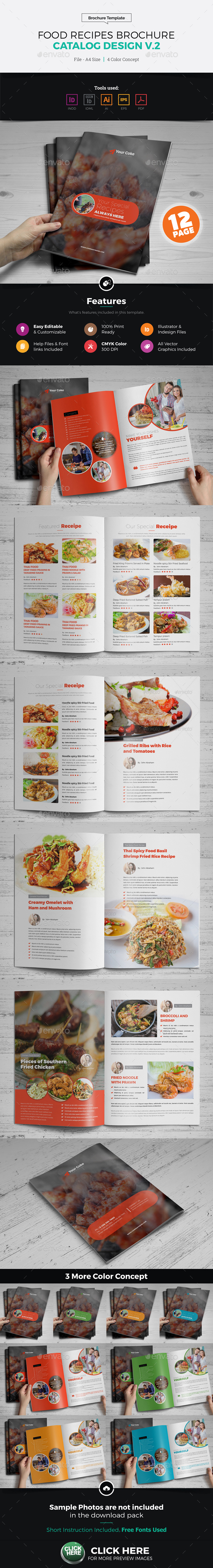 Food Recipes Brochure Catalog Design v2 - Corporate Brochures