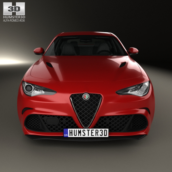 Alfa Romeo Giulia Quadrifoglio With HQ Interior 2016 By