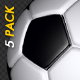 Soccer Ball - White and Black - Bouncing Transition - Pack of 5 - VideoHive Item for Sale