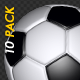 Soccer Ball - White and Black - Flying Transition - Pack of 10 - VideoHive Item for Sale
