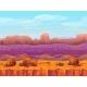 Desert Canyon Landscape Vector Illustration