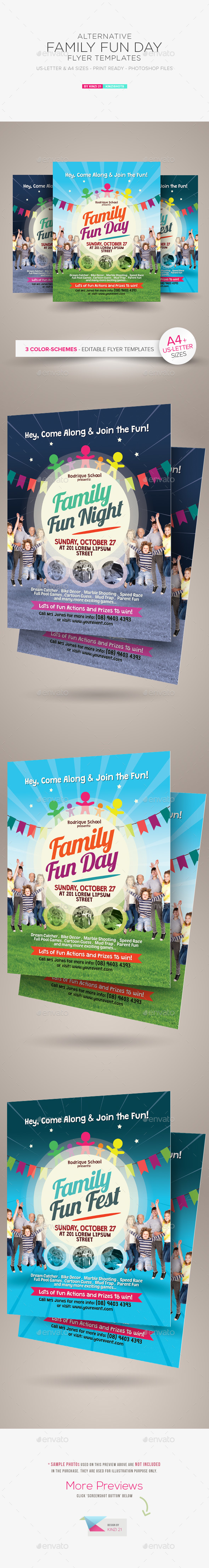 Alternative Family Fun Day Flyers - Holidays Events