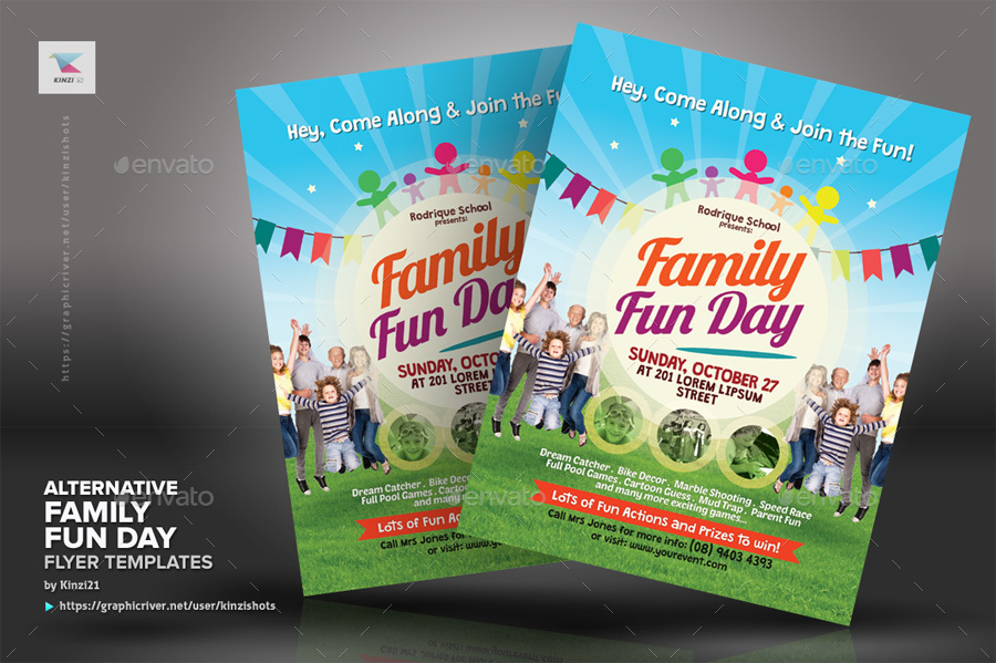 Alternative Family Fun Day Flyers By Kinzishots Graphicriver