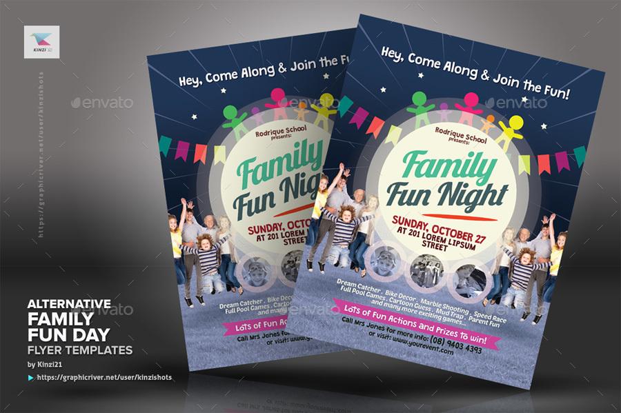 Alternative Family Fun Day Flyers