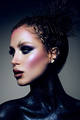 Fashion model with bright makeup and colorful glitter - PhotoDune Item for Sale