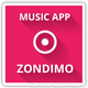 Zondimo - Angular Music app - ThemeForest Item for Sale