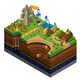 Isometric Oil And Mining Industry Concept