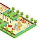 Isometric Amusement Park Concept - GraphicRiver Item for Sale