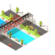 Isometric Colorful Railway Transportation Concept - GraphicRiver Item for Sale