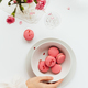 Bowl of Pink Macarons on White Table - PhotoDune Item for Sale