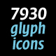 7930 Glyph Icons - GraphicRiver Item for Sale