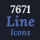 7671 Line Icons - GraphicRiver Item for Sale