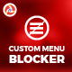 Custom Menu Blocker - CodeCanyon Item for Sale