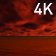 Infernal Red Cumulus Clouds Above the Ocean - VideoHive Item for Sale