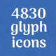 4830 Glyph Icons - GraphicRiver Item for Sale