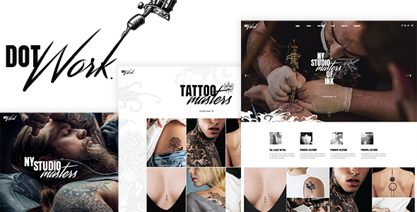 Dotwork - Tattoo Studio and Piercing Shop Theme