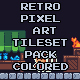 Retro Pixel Art Tileset Pack Colored Version