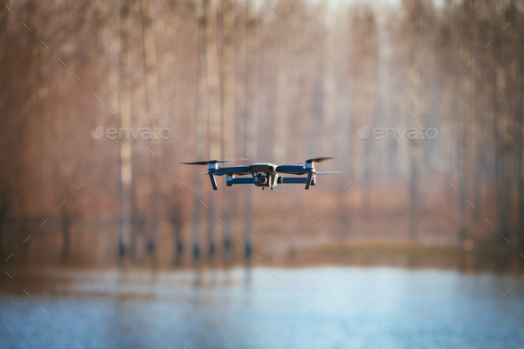 Flying Drone - Stock Photo - Images