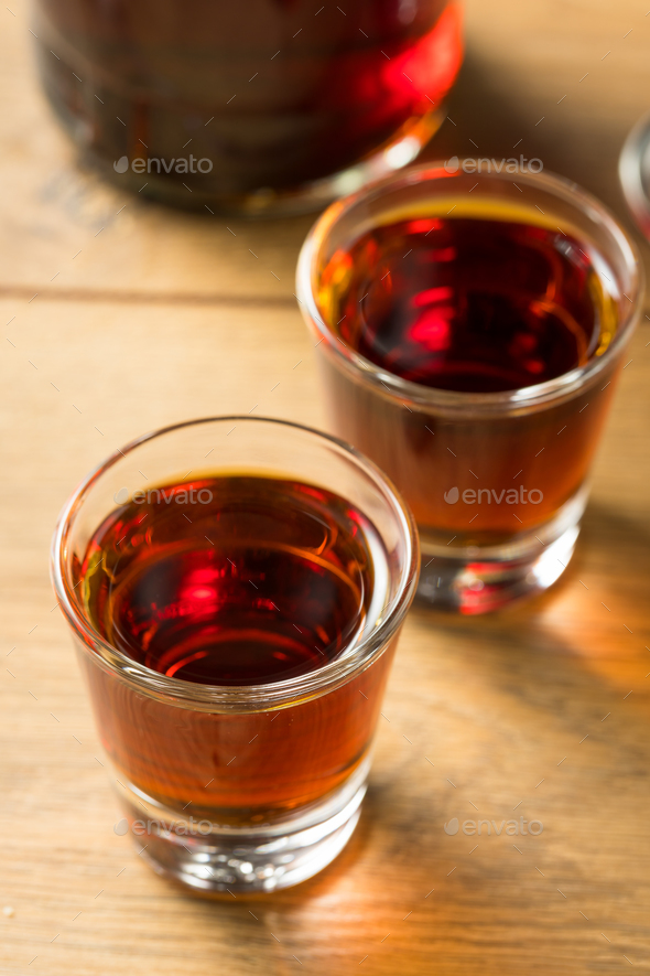 Red Sloe Gin Liqueur - Stock Photo - Images
