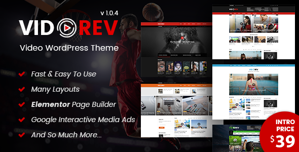 Image of VidoRev - Video WordPress Theme