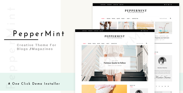 Image of PepperMint - Creative WordPress Theme for Blogs/Mini-Magazines