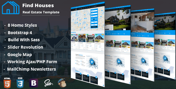 Image of Find Houses - Real Estate HTML Template