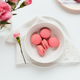 Strawberry Macarons on White Table - PhotoDune Item for Sale