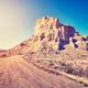 Desert dirt road at sunset, USA. - PhotoDune Item for Sale