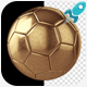 Golden Soccer Ball - VideoHive Item for Sale
