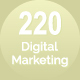 220 Digital Marketing Line Icons